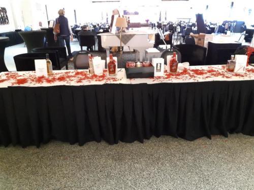 Spirit table setup